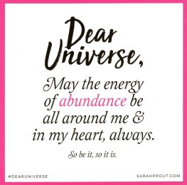 Energy Of Abundance Around Me
