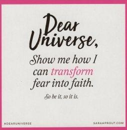 Transform Fear Into Faith